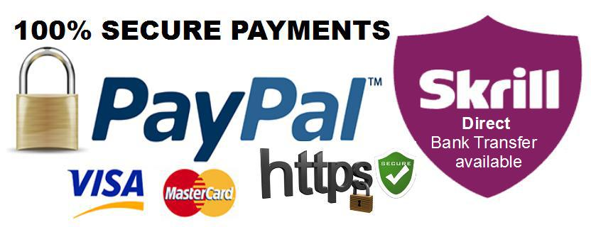 Secure Payments with Skrill and Paypal